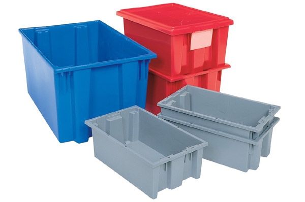 Akro Mils Nest and Stack Plastic Storage Tote
