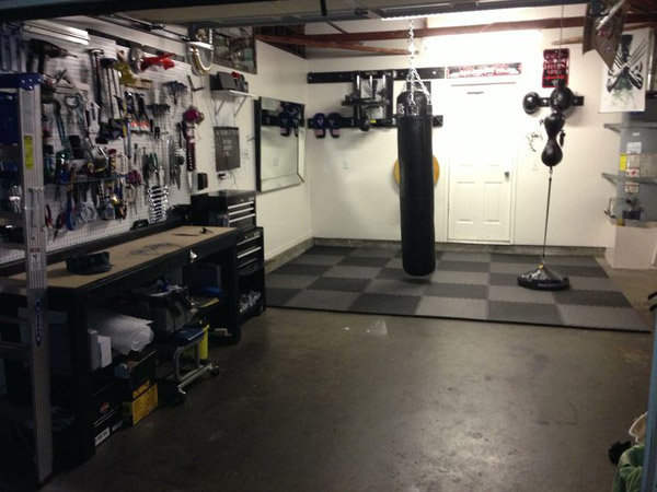 Nice Boxing gym in the garage