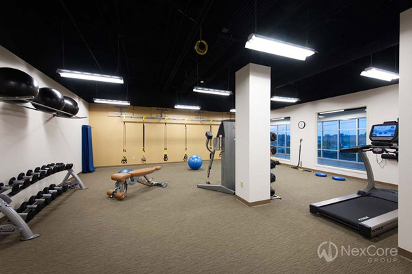 Very nice private home gym workout area