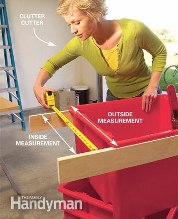 Step 1 - Sliding Hanging Storage System - Measure