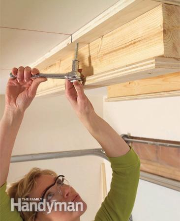 Step 8 - Sliding Overhead Storage System - Drive Lags at Joists