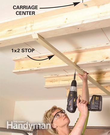 Step 9 - Sliding Hanging Storage System - Install Stops