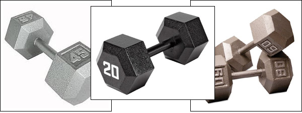 Dumbbells for sale - Iron Hex Dumbbells in pairs or sets