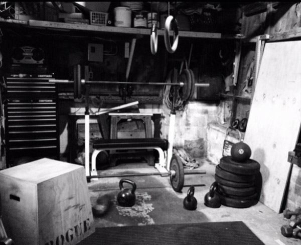 Goes to show you that if you want a garage gym, you'll make it work