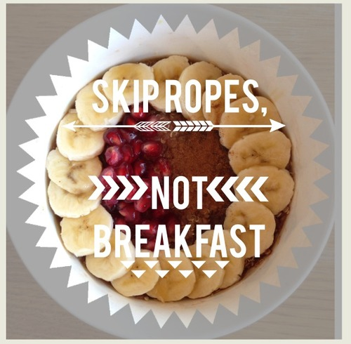 Words of wisdom for dieters and athletes #breakfast
