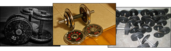 Used dumbbells for sale all over the place