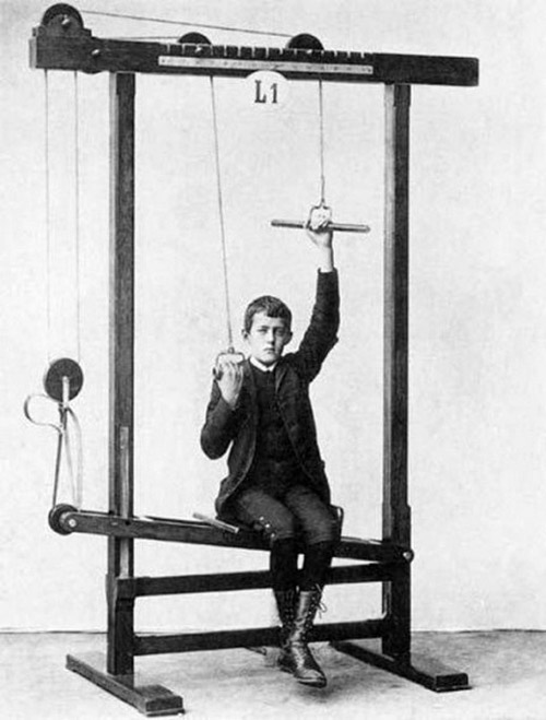 How very high tech - vintage exercise equipment