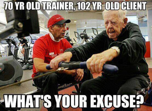 Mobility at any age. Never stop training