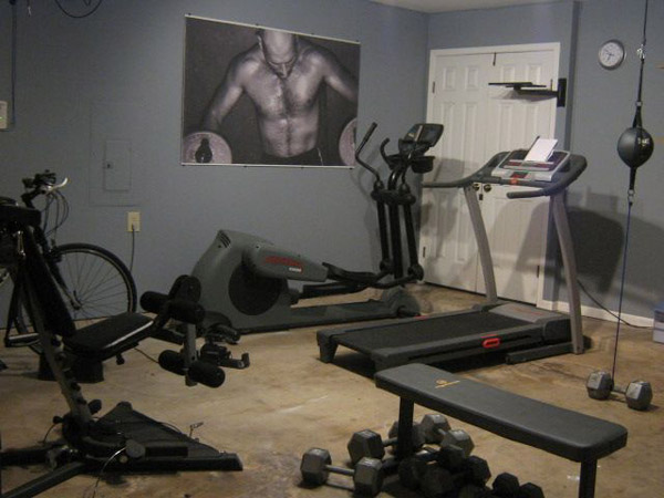 Lots of cardio equipment. who's that dude?