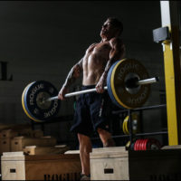 Chan pulling the Rogue 28 mm Olympic Training Bar
