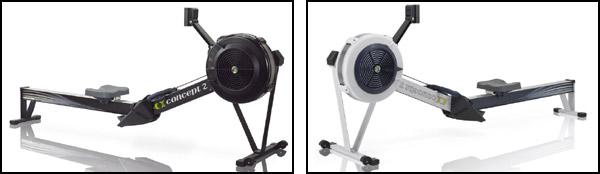 Concept 2 Rowers, Model D. Available in black or grey