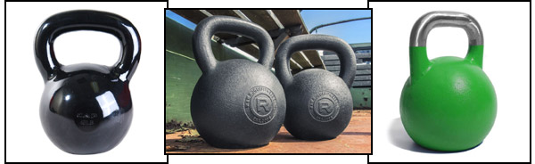 Various kettlebell coatings / finishes