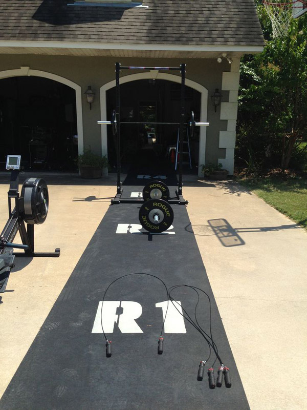 Committed Crossfitter. Has the whole Crossfit Games thing going on in his driveway. Amazing gym
