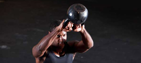 Kettlebell swings with two hands