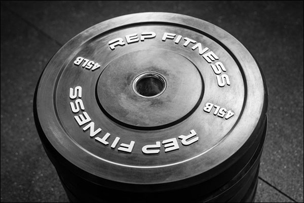 Rep Fitness Basic Black Bumper Plates