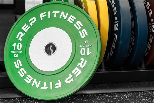 Rep Fitness Competition Bumper Plates in Kilograms
