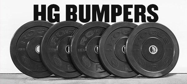 Rogue 260-pound set - HG Bumper Plates