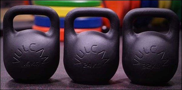 Vulcan's almost-competition Training Kettlebells