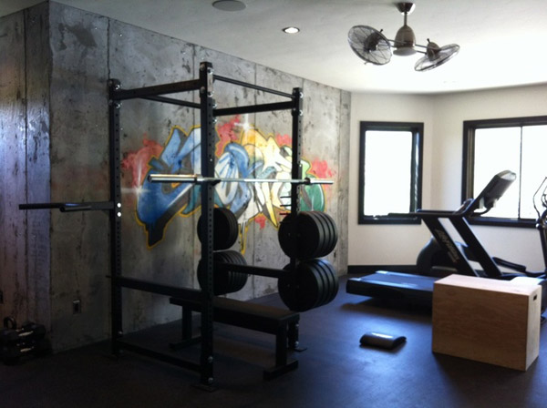 Private home gym with a nice artsy touch #tagged