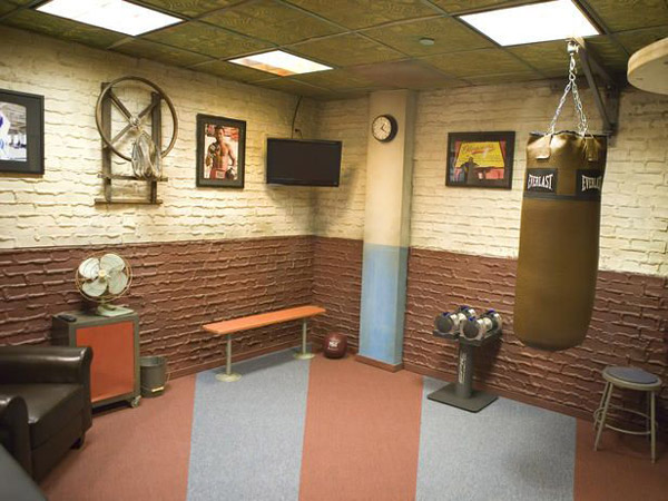 Very nice boxing studio - great flooring choice #gym flooring