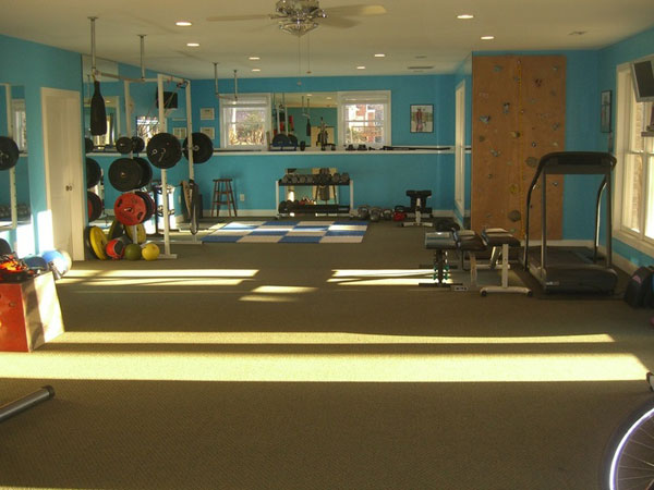 Is this a living room gym? Really looks like a house, but no other furniture #home gym