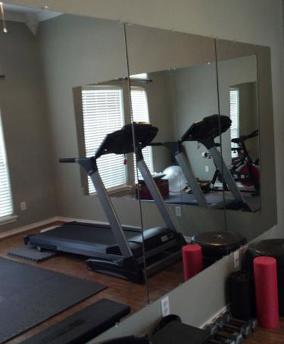 Row Of Mirrors From Home Depot Used In A Gym