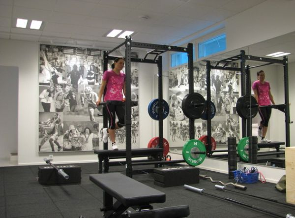 Nice Rogue-equipped personal gym. R4 power rack, comp plates, and bars galore. I have the R4 myself