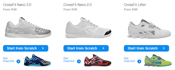 Design your own CrossFit shoes at Reebok - Nano 3.0, Lifters, more
