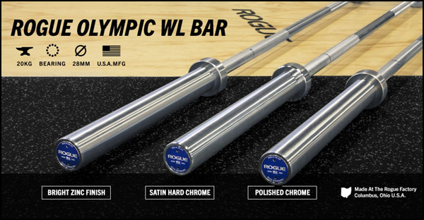 New Rogue Olympic Weightlifting Barbells