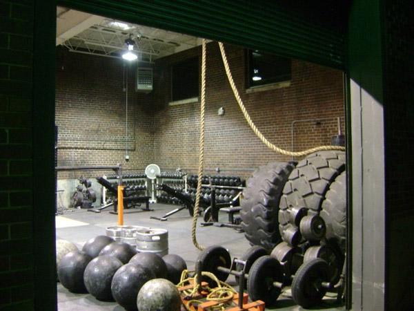 Killer strongman gym - atlas stones, farmers handles, kegs, tires, oh my #strongman