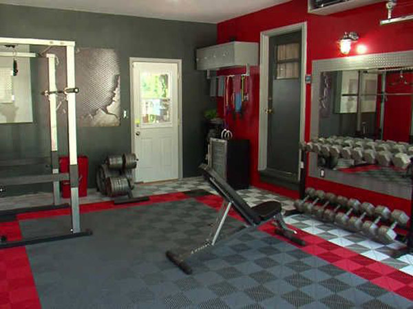 Dude went all out on this garage gym flooring #gym flooring
