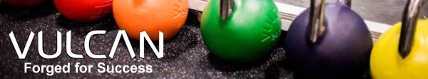 Vulcan Strength for bars, bumpers, kettlebells, racks, and all things strength training