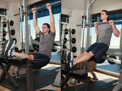 Low bar chin-ups and pull-ups for developing strength, a great alternative exercise to the lat pulldown