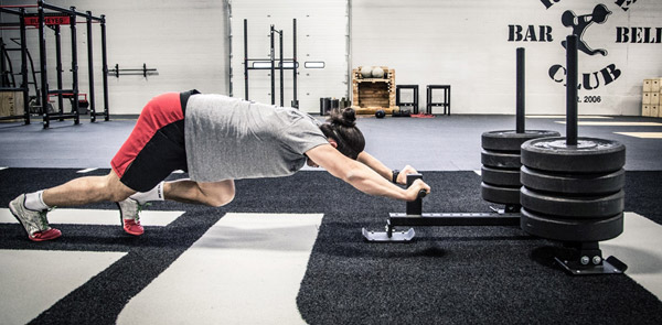 The updated Rogue Butcher push sled