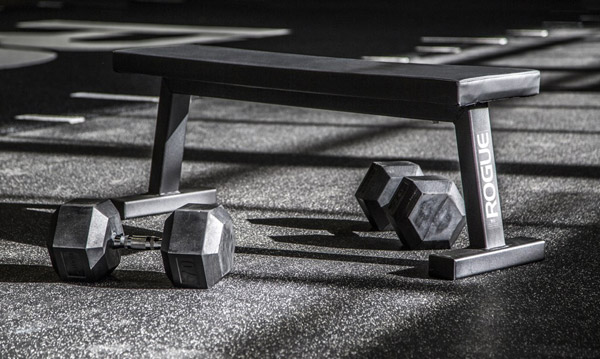 The new and improved Rogue Flat bench