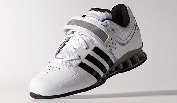 The new white Adidas Adipower Weightlifting Shoes