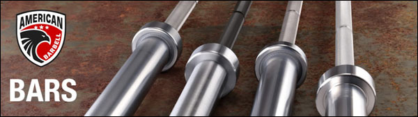 Large Collection of Stainless Steel Bars at American Barbell
