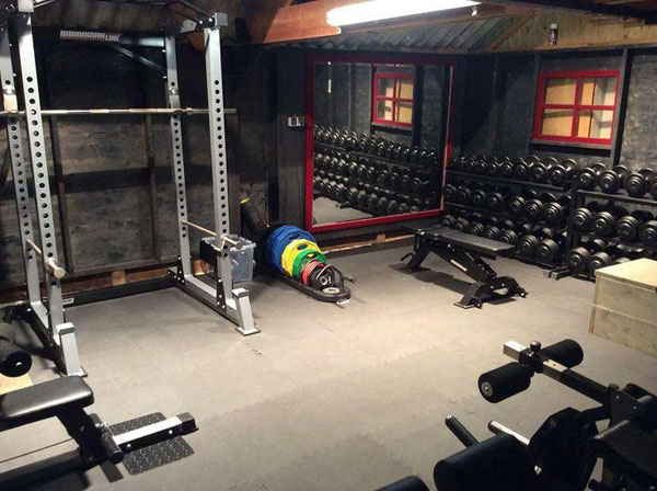 Rogue fitness garage gym courtesy of landee tim design facebook
