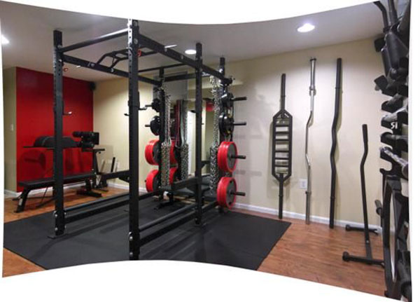 Rogue R6 rack with every possible specialty bar imaginable (look at right edge!) #roguefitness