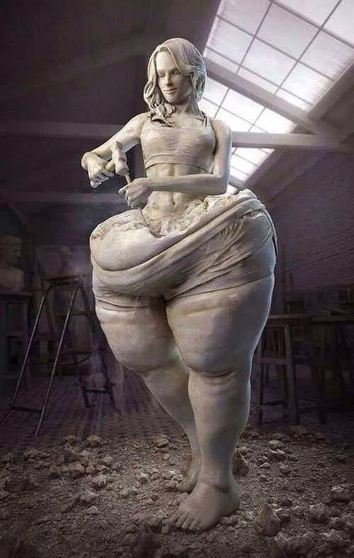 Fantastic art - Chisel Yourself - Weight loss and diet motivation #motivation