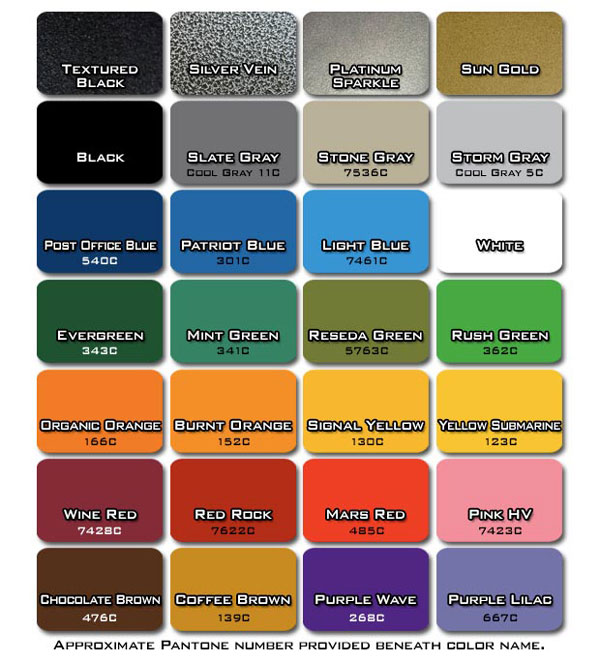 Legend Fitness frame color options chart