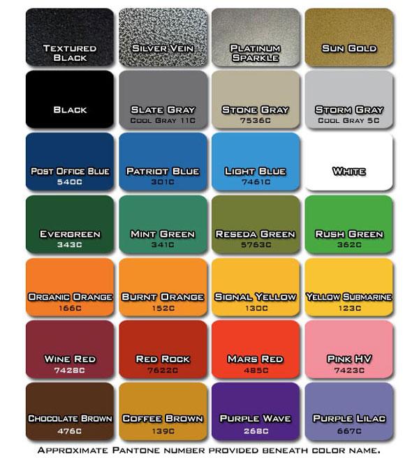 Legend Fitness frame color options chart