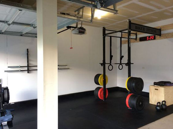 Very nice Rogue-equipped garage gym. Very clean and organized. Approved