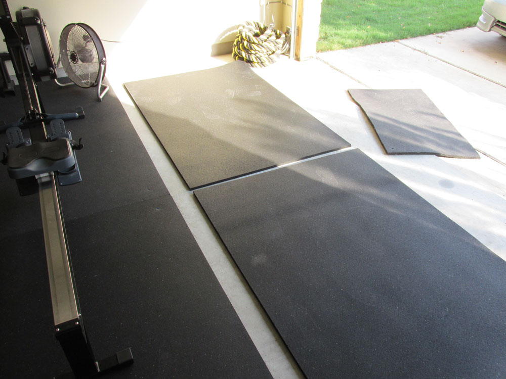 I'll be adding these two mats to my existing garage gym floor space and securing them so they don't slide around