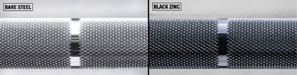 Finish options for Ohio Power Bar - Steel or Zinc