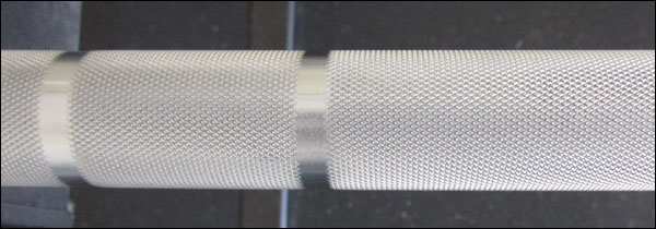 Close up of Matt Chan Bar Knurling