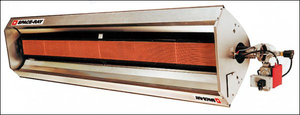 Example of high-intensity infrared radiant heater