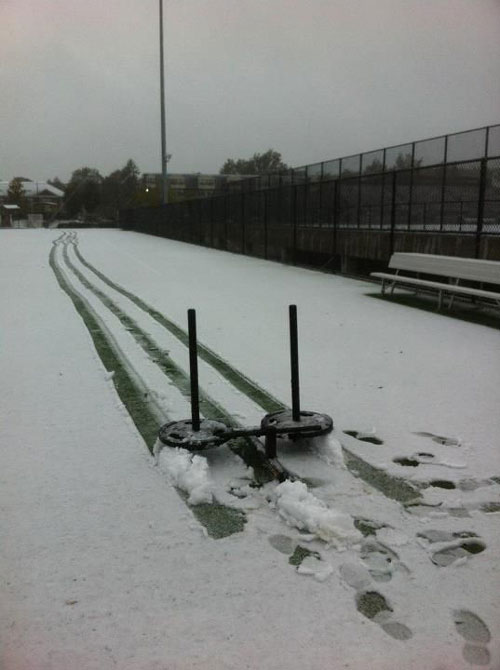 Snow prowler leaves tracks of dedication #get it done