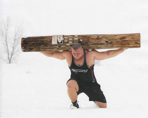 Strongman dedication, rain or shine... or snow #strongman #training