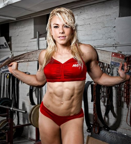 some more motivating abdominals for you #sexy blond #abs